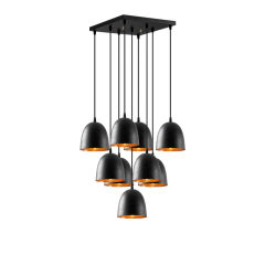 """Lampe Suspendue """"Tattoo - 6192""""MétalArgent 9 x E27 [OPV-584TTM1372] - Sans Ampoule"""