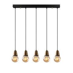 """Lampe à suspension """"Algiers"""" [OPV-584TTM1494]  - Finition Noir"""