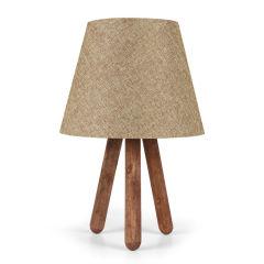"""Lampe de Table """"AYD"""" Hêtre / PVC Rose / Marron E27 Sans Ampoule [OPV-780SGN1430]"""