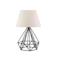 """Lampe de table """"Insignio"""" PVC / Métal Crème 1xE27 Sans Ampoule [OPV-780SGN1876]"""
