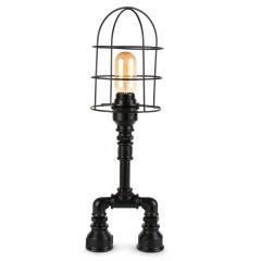 """Lampe de table """"Insignio"""" Tube en fer noir 1xE27 sans ampoule [OPV-780SGN2503]"""