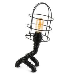 """Lampe de table """"Insignio"""" Tube en fer noir 1xE27 sans ampoule [OPV-780SGN2513]"""