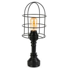 """Lampe de table """"Insignio"""" Tube en fer noir 1xE27 sans ampoule [OPV-780SGN2514]"""