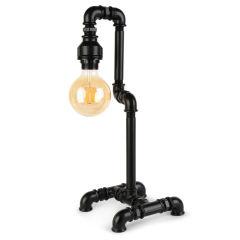 """Lampe de table """"Insignio"""" Tube en fer noir 1xE27 sans ampoule [OPV-780SGN2515]"""