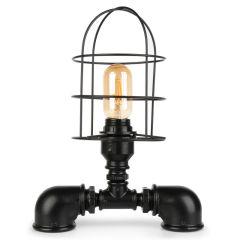 """Lampe de table """"Insignio"""" Tube en fer noir 1xE27 sans ampoule [OPV-780SGN2521]"""