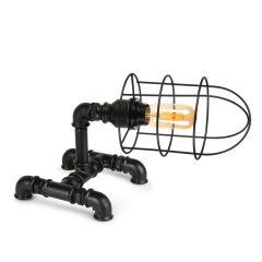 """Lampe de table """"Insignio"""" Tube en fer noir 1xE27 sans ampoule [OPV-780SGN2524]"""