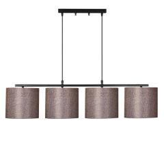 """Lampe Suspendue """"Valiz""""Noir/Blanc Neutre 4 x E 27 Sans Ampoule [OPV-892OPV1504]"""