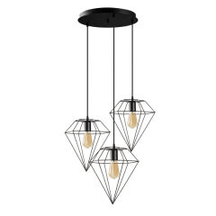 "Lampe à suspension ""Huangshi"" [OPV-892OPV1626]  - Finition Chrome"