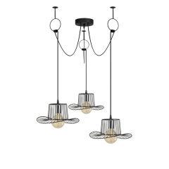 """Lampe Suspendue """"Tel""""Noir 3 x E 27 Sans Ampoule [OPV-892OPV1728]"""