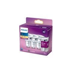 Pack 3 Ampoule LED Philips GU10 36D  4.6W 355Lm 2700K [PH-929001215256]