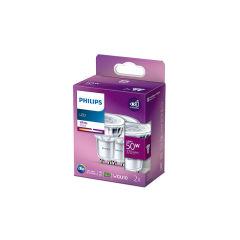 Pack 2 Ampoule LED Philips GU10 36D   4.6W 355Lm 3000K [PH-929001218154]