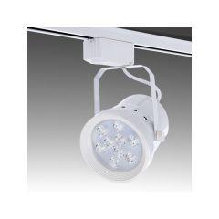 Spot LED Sur Rail Monophasé 9W 900Lm 30.000H Bailey  - Couleur Blanc chaud - Cuerpo Blanc