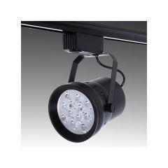 Spot LED Sur Rail Monophasé 12W 1200Lm 30.000H Hadley  - Couleur Blanc Neutre - Cuerpo Noir