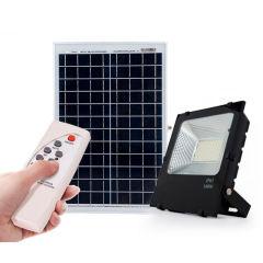 Projecteur LED 100W 10.000Lm 6000ºK Solaire Capteur 100W + Contrôler À distance Panneau 6V/25W 30.000H [PL-626005-CW]  - Couleur Blanc froid