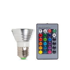 Ampoule À LED RGB 3W E27 Télécommande  - Couleur RVB