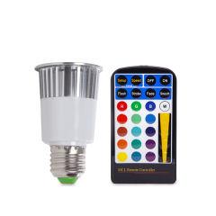 Ampoule À LED RGB 5W E27 Télécommande  - Couleur RVB