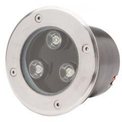 Projecteur LED IP67 Encastré 3W 285Lm 30.000H Jocelyn  - Couleur Blanc chaud