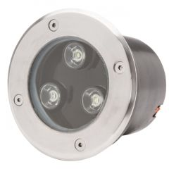 Projecteur LED IP67 Encastré 3W 285Lm 30.000H Jocelyn  - Couleur Rouge