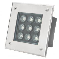 Projecteur LED IP67 Encastré 9W 855Lm 30.000H Valerie