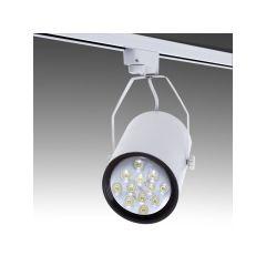 Spot LED Sur Rail 12W 1200Lm 30.000H Taylor  - Couleur Blanc chaud - Cuerpo Blanc