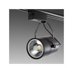 Spot LED Sur Rail 20W 2000Lm 30.000H Natalia  - Couleur Blanc chaud - Cuerpo Noir