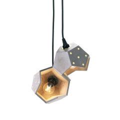 """Lampe Suspendue Modular Magnétique """"Basic TWELVE Duo"""" Ciment E14 [PLA-LA-BA-S03]"""