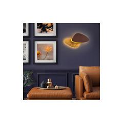 """Applique Murale """"Contra"""" Finition Métal Oxyde / Feuille d'Or LED 12W 1576Lm 3000k [SCH-208765]"""