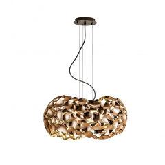 "Lampe À Suspension ""Narisa-1""  [SCH-266251N]  - Finition Blanc"