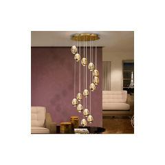 """Lampe À Suspension """"Rocío-6""""  [SCH-785648B]  - Finition Argent"""