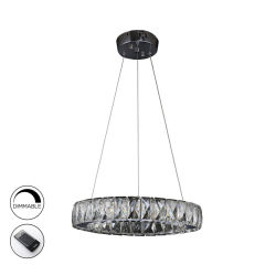"Lampe Suspendue ""Diva""Acier/Verre LED 24W 2616Lm Dimmable 4000K [SCH-854275N]"