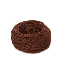Câble tressé 2x0,75 x 1M  [SKD-C275-CLAY]  - Finition Vert Clair