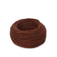 Câble tressé 2x0,75 x 1M  [SKD-C275-CLAY]  - Finition Rose