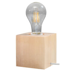 """Lampe DeTable """"ABEL""""Gris IP20 1xE27 Sans Ampoule [SOL-SL.0683]"""