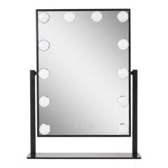 Miroir de Maquillage Illuminé  41x47,5Cm AjusTableBlanc [SUN-ESLED-03-B]
