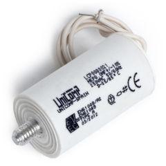 Condensateur  8 Uf 250Vac 10% 50/60HzCâbles 200mm
