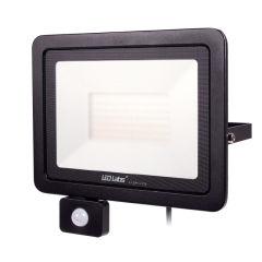 Projecteur LED IP44 Noir avec Détecteur de Mouvement 100W 8500Lm Blanc Naturel