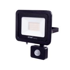 Projecteur LED IP44 Noir avec Détecteur de Mouvement 30W 2550Lm Blanc Naturel