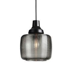 "Lampe Suspendue ""New WaveStripe Smoke"" E27 Sans Ampoule"