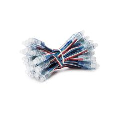 Pixel LED 12Mm 0,3W 5V Epistar RGB (Chain 50 Pièces)  - Couleur RVB
