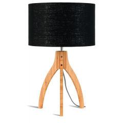 [G-M-ANNAPURNA/T/3220/B] Lampe De Table Bambou 3 Jambes Annapurna 54cm/Abat Jour 32x20cm  - Abat jour - Lin Foncé