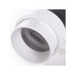Spot LED Sur Rail Monophasé Angle De Faisceau Variable 10-60º 30W 2700Lm 50.000H Mary  - Couleur Blanc chaud