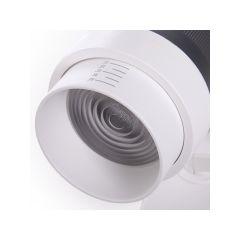 Spot LED Sur Rail 3 Phases Angle De Faisceau Variable 10-60º 30W 2700Lm 50.000H Kayla  - Couleur Blanc chaud