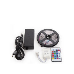 KitBande 150 LEDs 36W RGB Blister Transformateur, Manette, Télécommande IP25  - Couleur RVB