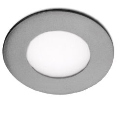 Led Slimline Downlight RondCadreArgent 90Mm 3W 230Lm 30.000H  - Couleur Blanc Neutre