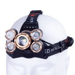 """Lumière pour coureurs """"Wanjiru"""" 10W XPE 4 x COB 3W Aluminium / ABS"""
