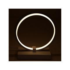 """Lampe De Table  """"Circle"""" [HO-LM-CIRCLE-20W-W]  - Couleur Blanc Neutre"""