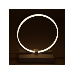 "Lampe De Table  ""Circle"" [HO-LM-CIRCLE-20W-W]  - Couleur Blanc chaud"
