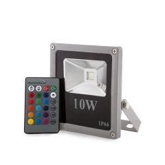 Projecteur LED IP65  10W RGB Télécommande  - Couleur RVB