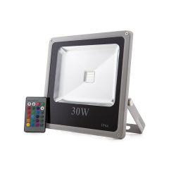 Projecteur LED IP65  30W RGB Télécommande  - Couleur RVB