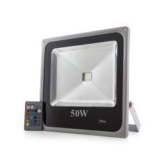 Projecteur LED IP65  50W RGB Télécommande  - Couleur RVB